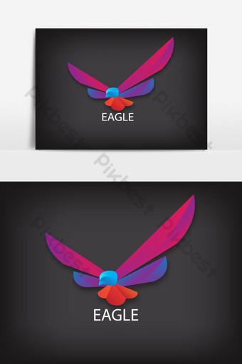 águila colorida geométrica logo Elementos graficos Modelo AI