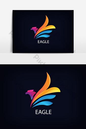 águila colorida geométrica logo Elementos graficos Modelo EPS