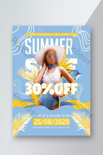 Flyer de fille de mode d'été Modèle PSD Modèle PSD