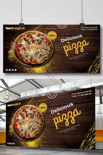 plantilla de banner de restaurante de pizza deliciosa psd Modelo PSD