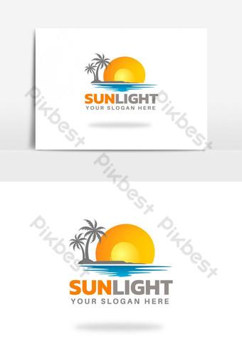 Creative sunlight logo design - sea sun logo PNG Images Template AI