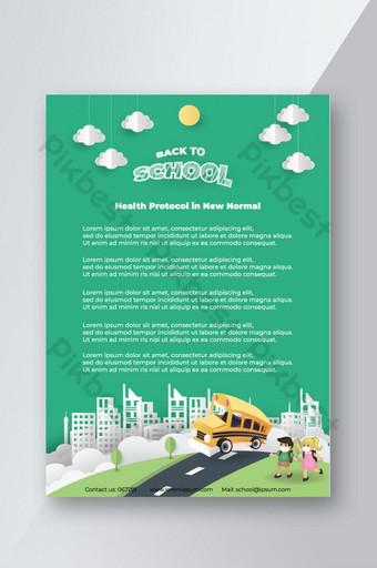 flyer retour à l'école dans la nouvelle norme pour information Modèle EPS