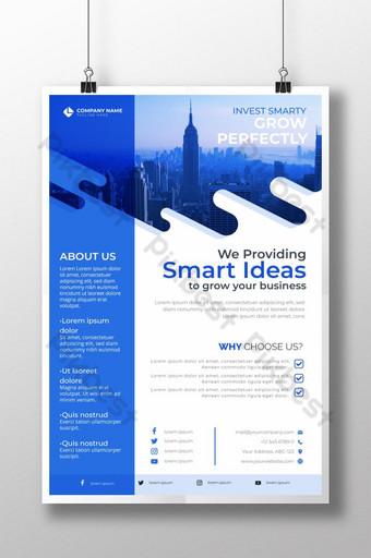 Modèle d'affiche d'entreprise moderne et créatif pour les affaires immobilières Modèle AI