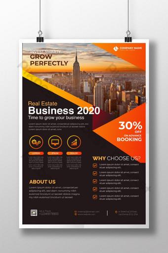 Modèle d'Affiche 2020 de l'immobilier créatif et moderne pour entreprise Modèle AI