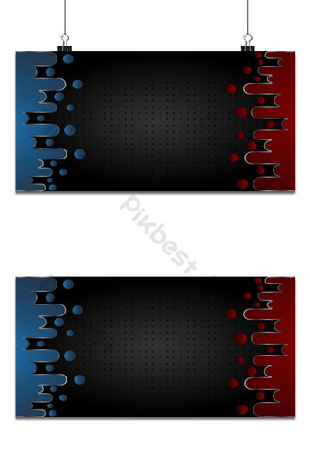 estera abstracta negra geométrica fondo rojo y azul elegante futurista rojo brillante Fondos Modelo AI