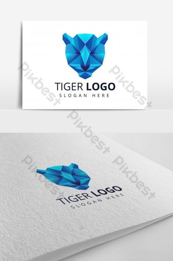 plantilla de diseño de logotipo de tigre vector Modelo AI