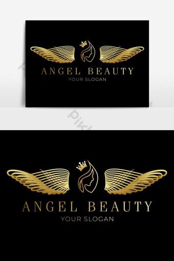 logo de angel dorado con fondo negro y dorado Elementos graficos Modelo AI