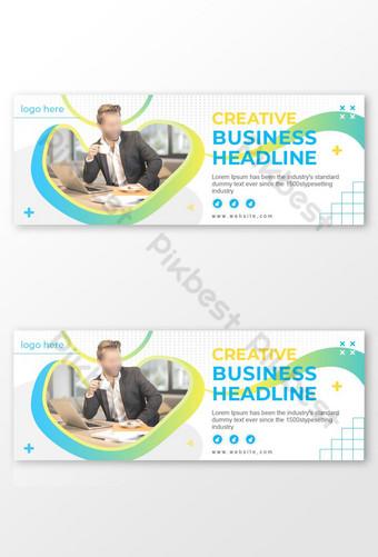 conception de couverture de page promotionnelle entreprise en ligne Modèle EPS