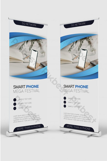 الهاتف الذكي الضخم المهرجان الجديد نشمر قالب تصميم لافتة للإعلان على الأجهزة المحمولة قالب AI