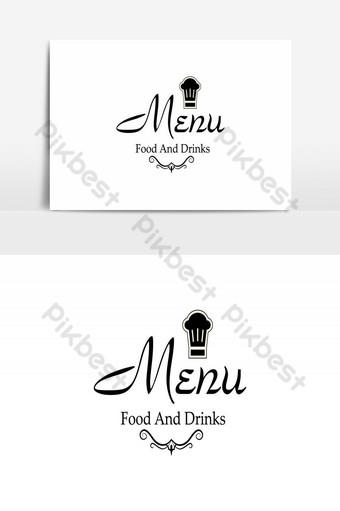 restaurante creativo logo vector diseño Elementos graficos Modelo AI