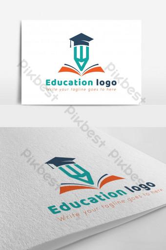 plantilla de diseño de vector de logotipo de educación Modelo EPS