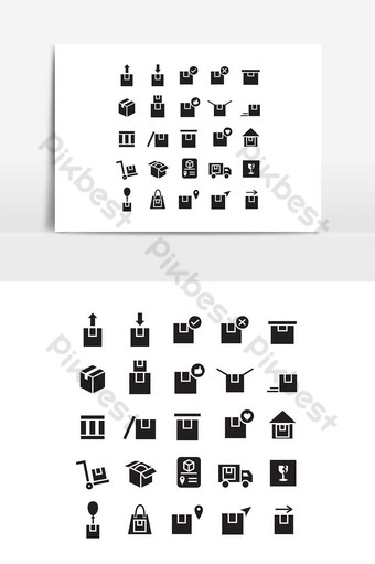 paquete de iconos conjunto vector sólido para sitio web aplicación móvil presentación redes sociales Elementos graficos Modelo EPS