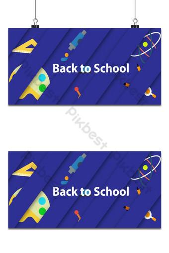 Fondo de regreso a la escuela con sombra y color azul. Fondos Modelo EPS