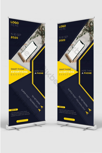 Smart phone advertising banner design template for mobile device sale promotion Template AI