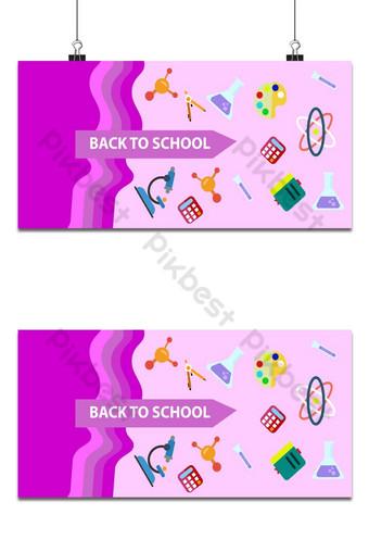 Fondo de regreso a las escuelas con color rosa oscuro. Fondos Modelo EPS