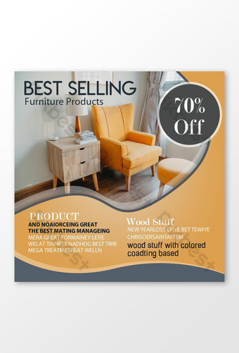 Best Selling Furniture Sale Social Media Posts Template PSD
