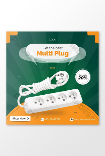 Multi Plug Selling Social Media Post Template AI
