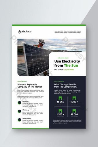 Modèle de flyer d'entreprise d'énergie solaire Modèle PSD