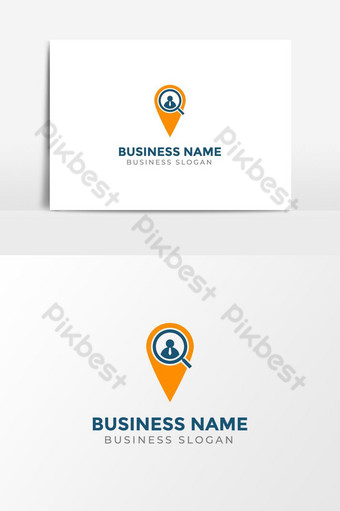 Business Location Search Icon Logo Template PNG Images Template AI
