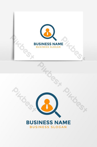 Business Employ Search Logo template PNG Images Template AI