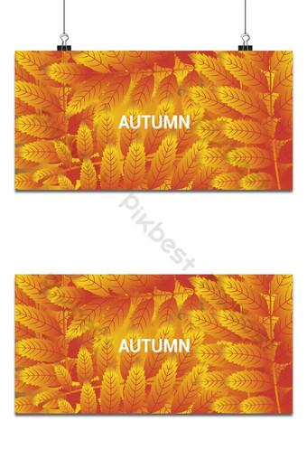 Fondo de hojas rojas y amarillas de otoño colorido Fondos Modelo AI