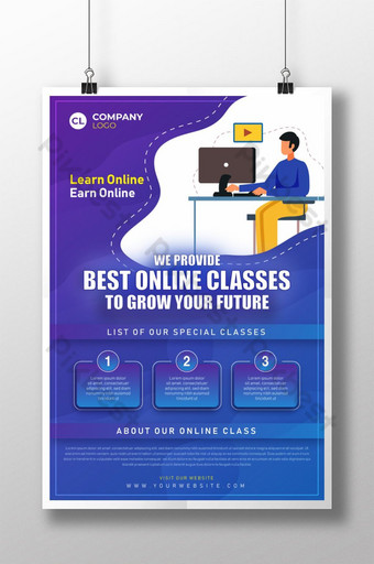 Online Cles Templates Free Psd