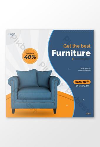 Furniture Sell Social Media Post Template AI