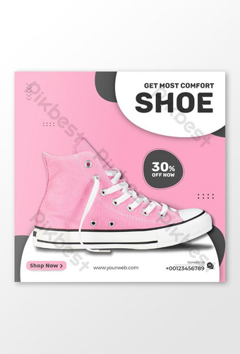 Sell Pink Shoe Social Media Post Template AI