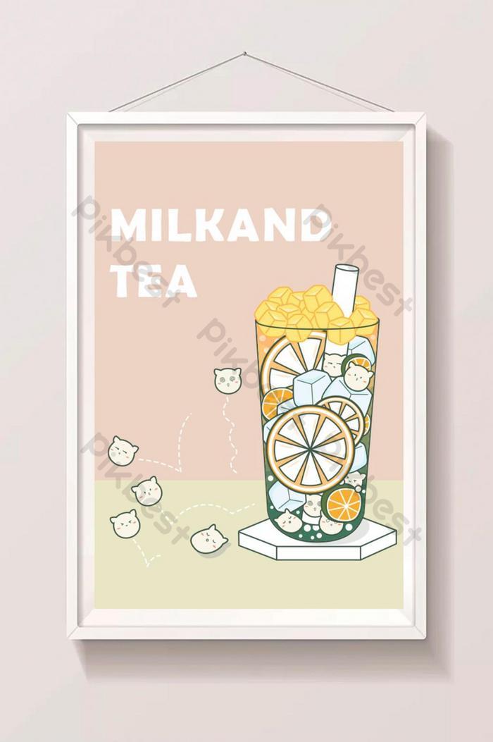 buah teh dicampur dengan lemon dan mutiara yang indah