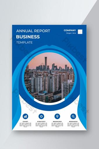 Conception de la couverture pour les dépliants de la brochure du rapport annuel Modèle EPS