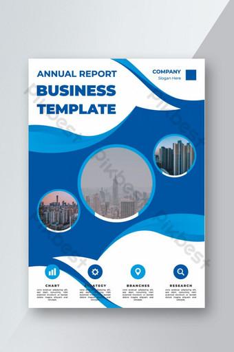Conception de couverture professionnelle pour les dépliants de la brochure du rapport annuel Modèle EPS