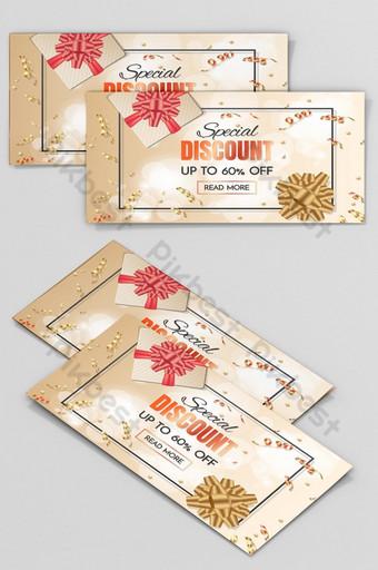 Coupon Collection bannière de réduction ou chèque cadeau luxe Modèle AI