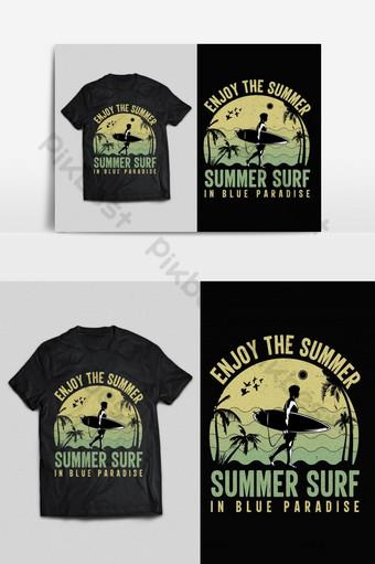tipografía de verano vintage vector listo para imprimir diseño de camiseta psd eps png Elementos graficos Modelo EPS
