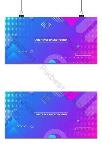 Streszczenie kolorowe geometryczne modne tło wektor gradientu Tła Szablon AI