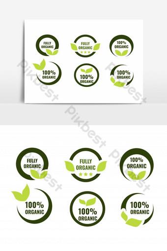 conjunto de vectores de iconos de placa totalmente orgánica Elementos graficos Modelo EPS