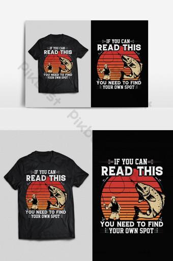 Memancing tipografi vektor cetak siap t shirt Desain psd eps png Elemen Grafis Templat EPS