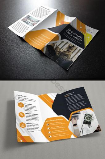 قالب تصميم كتيب الأعمال ثلاثي الطيات pikbest قالب AI
