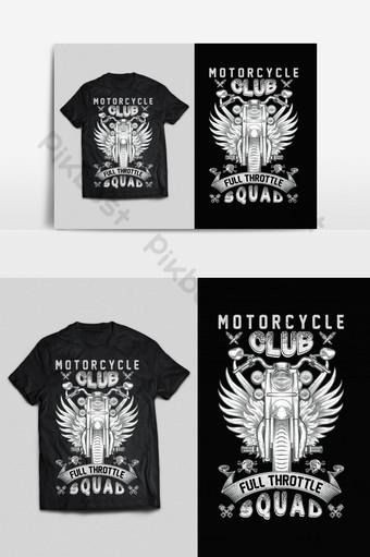 klub sepeda motor tipografi vektor cetak siap t shirt desain psd eps png Elemen Grafis Templat EPS