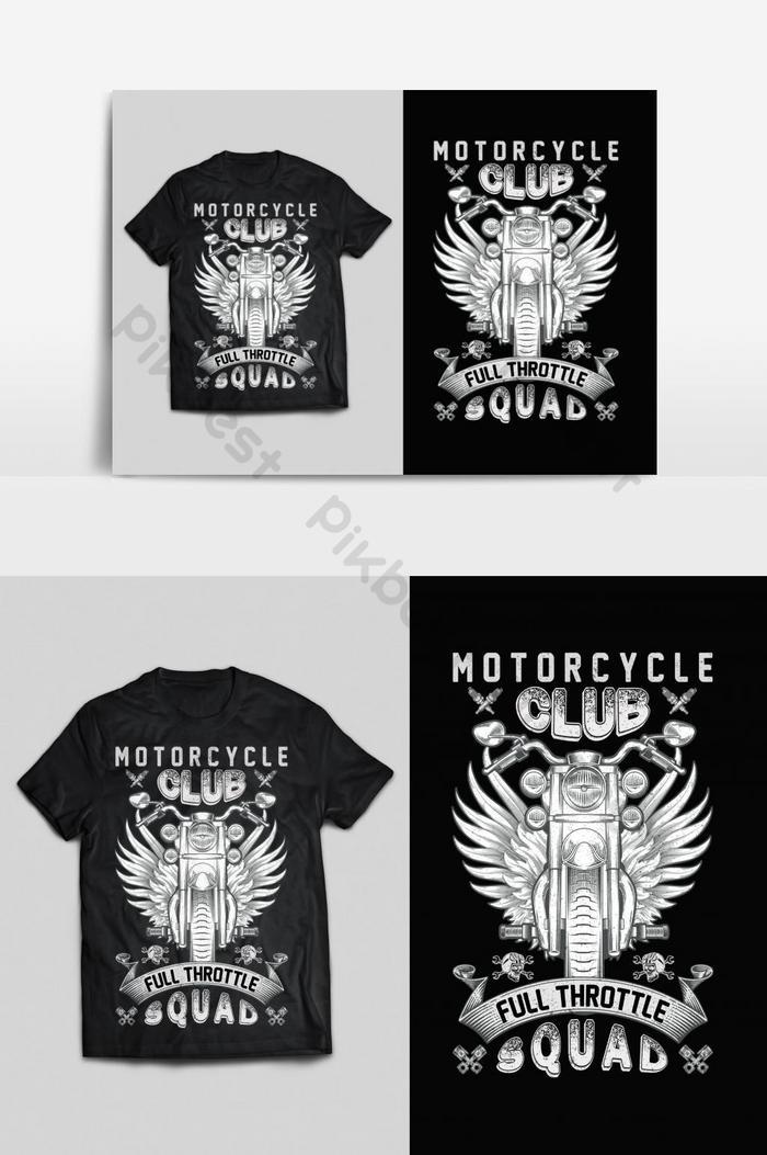 klub sepeda motor tipografi vektor cetak siap t shirt desain psd eps png