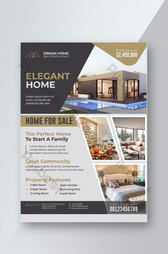 Modèle de Flyer de maison élégante à vendre Modèle EPS