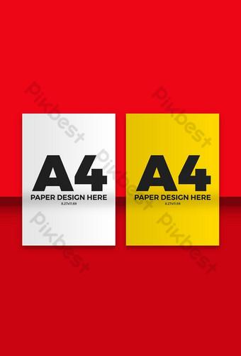 Deux maquette de flyer papier A4 Modèle PSD