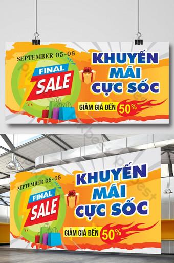 templat spanduk promosi penjualan abstrak Templat CDR