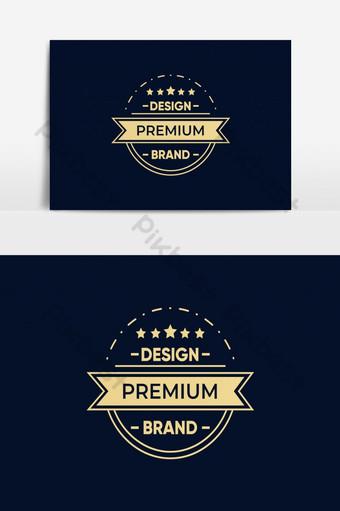 concepto de plantilla de logotipo retro Elementos graficos Modelo AI