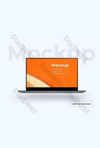 Makieta laptopa szablon PSD na białym tle Szablon PSD