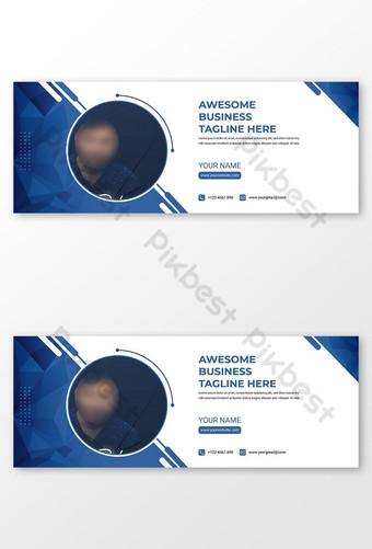 digital na negosyo sa marketing disenyo ng pahina ng pabalat ng facebook Template AI