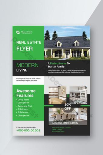 Espace de mise en page de conception de couverture de brochure affiche flyer immobilier pour modèle photo Modèle AI