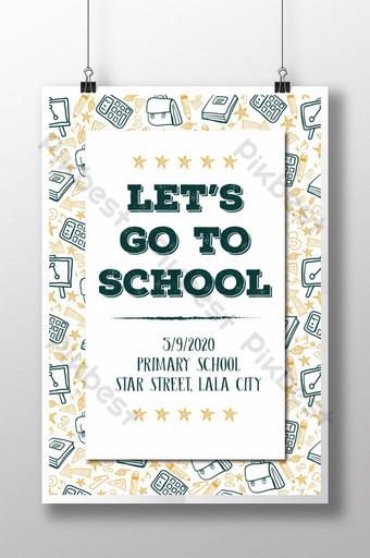 Allons à l'école Poster Modèle AI