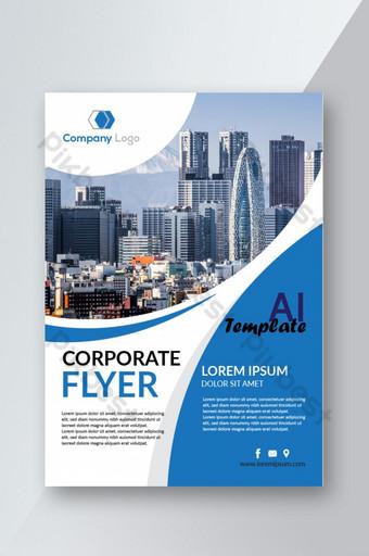 Conception de modèle de flyer d'entreprise à la mode Modèle AI