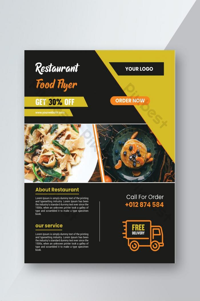 Desain Brosur Restoran Dan Bisnis Makanan Kreatif Templat Ai Unduhan Gratis Pikbest