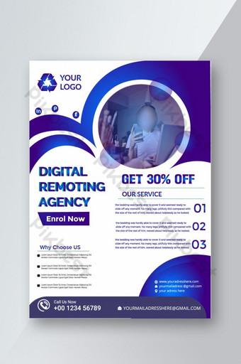 Modèle de flyer d'agence numérique créative avec photo Modèle AI
